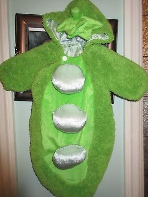 3 Peas in a Pod 3-6 Months Bunting Baby Halloween Costume