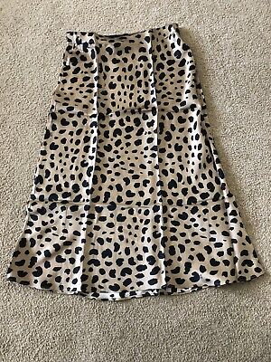 NWT Realisation Naomi Wild Things Leopard Skirt * Extra Large * Fast Ship