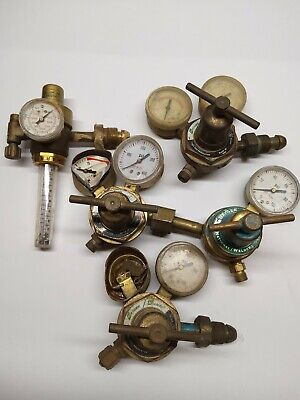 Lot Of 5 Vintage Steampunk Welding Gauges Usedparts Only