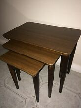 Nest of wooden tables 1950s Caringbah Sutherland Area Preview