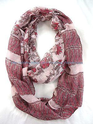 US Seller retro birds branches circle loop infinity scarf wholesale scarf women