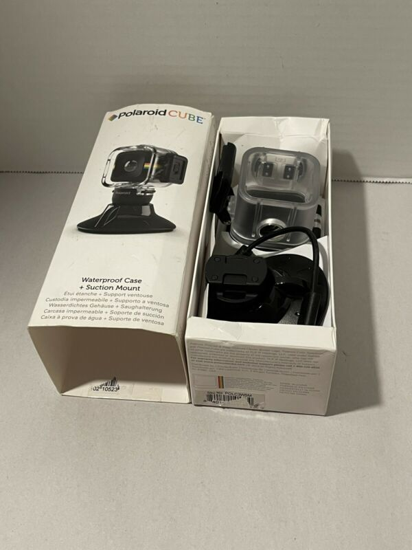 Polaroid Cube Waterproof Case & Suction Mount Free Shipping!