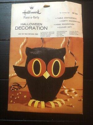 Hallmark Halloween Decorations (Vintage Hallmark Plans A Party Halloween Decoration Centerpiece,)