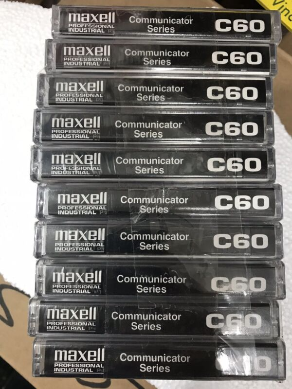 16 MAXELL PROFESSIONAL P/I COMMUNICATOR SERIES C60 CASSETTE TAPES SEALED NEW