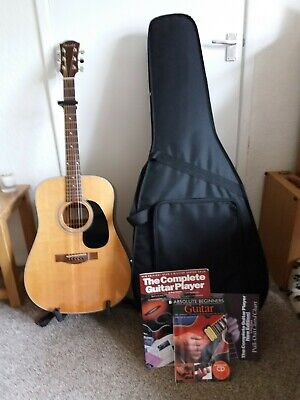 Farida Acoustic Guitar with Hard Case and Stand