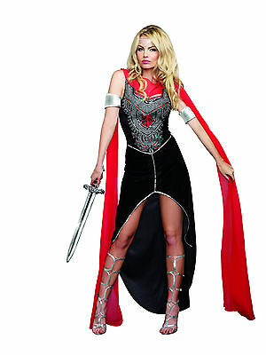 Sexy 3PC Women's Scandalous Medieval Gladiator Warrior Halloween Costume. Small