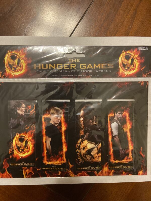 The Hunger Games Magnetic Bookmarks Set of 4 - New!- NECA