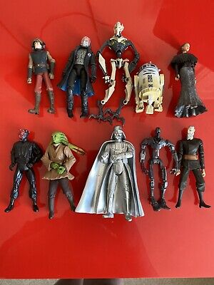 10x Hasbro 2000+ Star Wars Action Figures Bundle job lot - STAR WARS - (11)