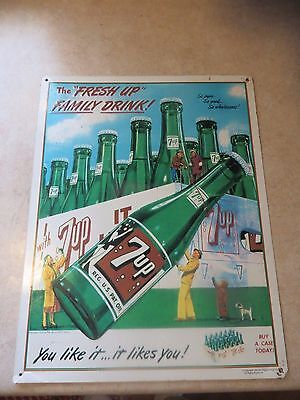 You Like it...it likes you buy a case today 7up soda store promo display sign