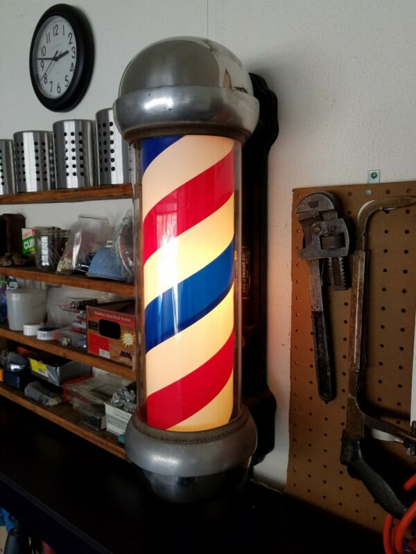 Vintage Paidar Barber Shop Pole