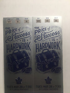 TWO Prime Leafs vs. Florida Tickets!!!