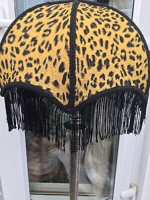 Tassled Vintage Style Leopard Print Lampshade  House Of Hackney Style
