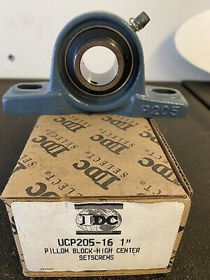 1 Ucp205-16 Self Align Pillow Block Cast Housing Mounted Ball Bearings One Inch