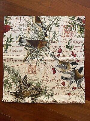 "NWOT Pottery Barn ~WINTER BIRD~ 20"" PILLOW Cover ~CHRISTMAS~ CARDINAL Snow Pine"