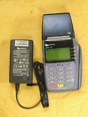 Verifone 5100 Omni 3730le Credit Card Processor With Correct Ac Adapter Paper