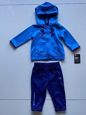 Under Armour Baby Boy 6-9 Months Children Kids Blue Jacket & Pants Sports Set