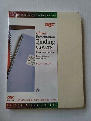 Gbc Presentation Binding Covers 8 34 X 11 14 Sturdy Grain White Comb Wire