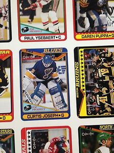 1990/91 O-Pee-Chee OPC Hockey Uncut Sheets Complete Set Stratford Kitchener Area image 9