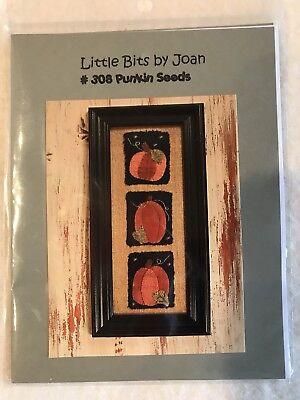 Little Bits By Joan Pumpkin Seeds Appliqué Pattern New Halloween Punkin - Patterns Pumpkin Halloween