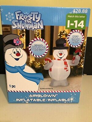 Gemmy Christmas 2019 Frosty The Snowman 5 ft Air Blown Inflatable NIB
