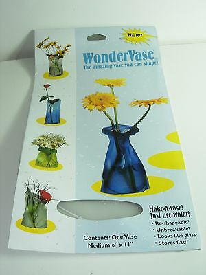 WonderVase FROSTED CLEAR FLOWER VASE PLASTIC UNBREAKABLE STORES FLAT 6X11 GIFT ](Clear Plastic Vase)