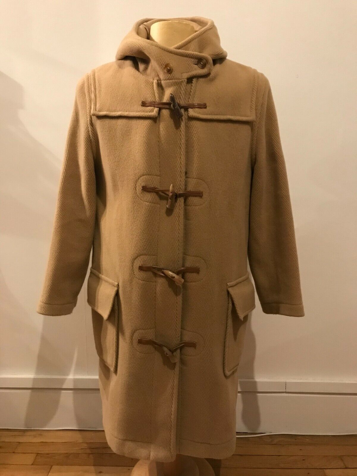 Duffle coat cyrillus,( look burberry),t:m/l,,wool,beige,size: it:40,fr:36,gb:8,