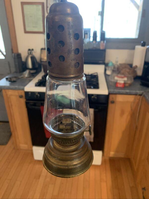 Vintage Brass Skaters Lantern Dated December 24, 1865