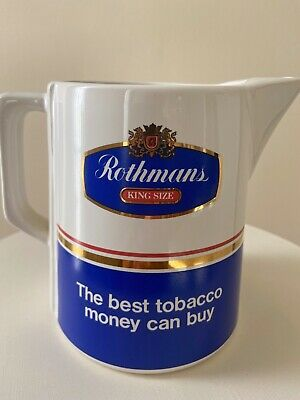 Rare Rothmans King size Seton Pottery Vintage Pug Jug / Pitcher, Made in UK