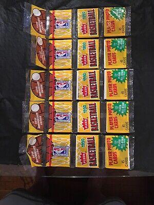 1990 Fleer Basketball Rack Pack Lot (5) Factory Sealed 45 Cards Each 1990 Fleer Rack