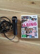 U-SING karaoke for wii with microphone Wembley Cambridge Area Preview
