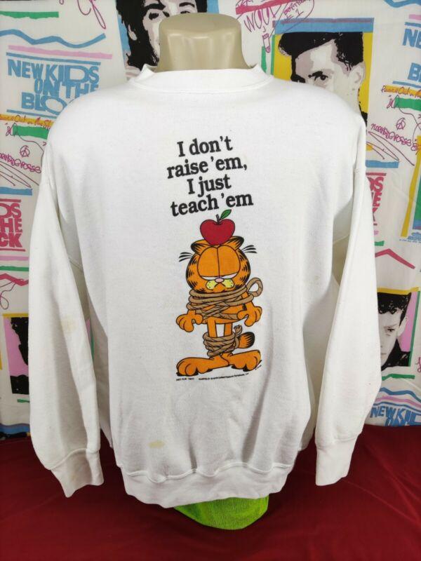 Vintage Sweatshirt Delta,Garfield The Cat Graphic,Size:XXL,Color:White