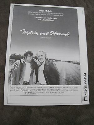 1980 18 page pressbook Melvin and Howard P Le Mat Jason Robards Mary Steenburgen