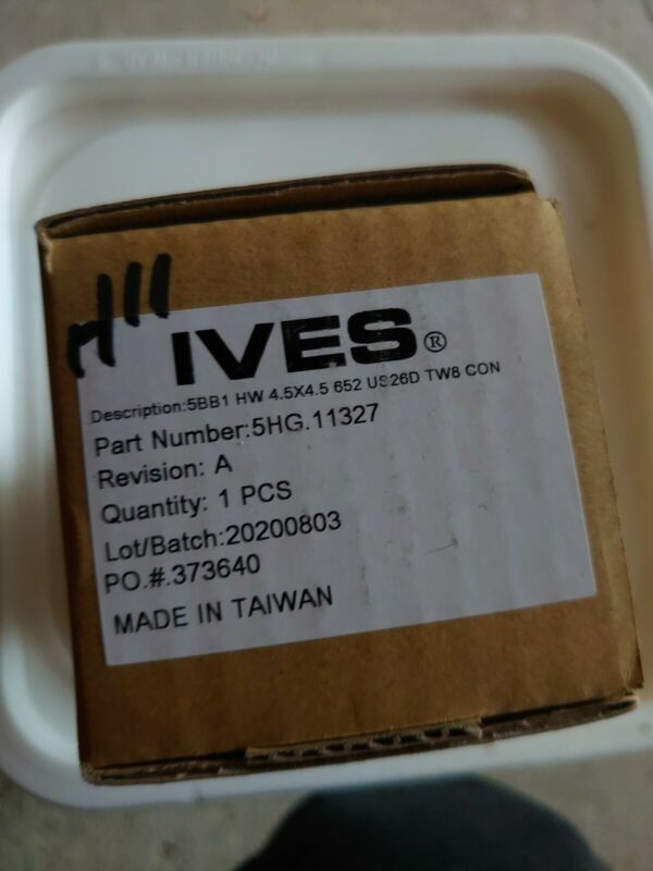 IVES 5BB1HW 4.5x4.5 652 TW8 Full Mortise Hinge 5 Knuckle 8 Wire Electric NEW NIB