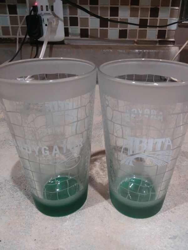 Vintage Abita Brewing Andygator Green Frosted Beer Pint Glass High Gravity