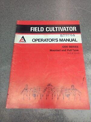 Allis Chalmers Model 1200 Field Cultivator Operators Manual 70587256