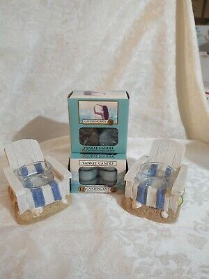Yankee Candle Set of Beach Chairs & 2 Boxes of Tealights Catching Rays