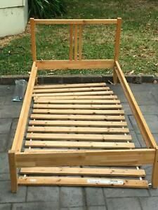 Bed Frame wooden single with slats