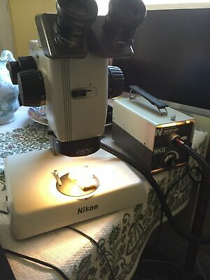 Nikon Smz-u Stereozoom 7.5x-75x Zoom Microscope System W Good Finecoarse Focus