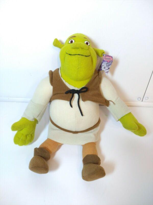 "Shrek The Third Green Ogre 15"" Plush Stuffed Doll Toy 2004 Nanco Dream Works"