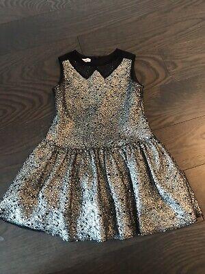 I Pinco Pallino Black Gold Girl Dress Size 4