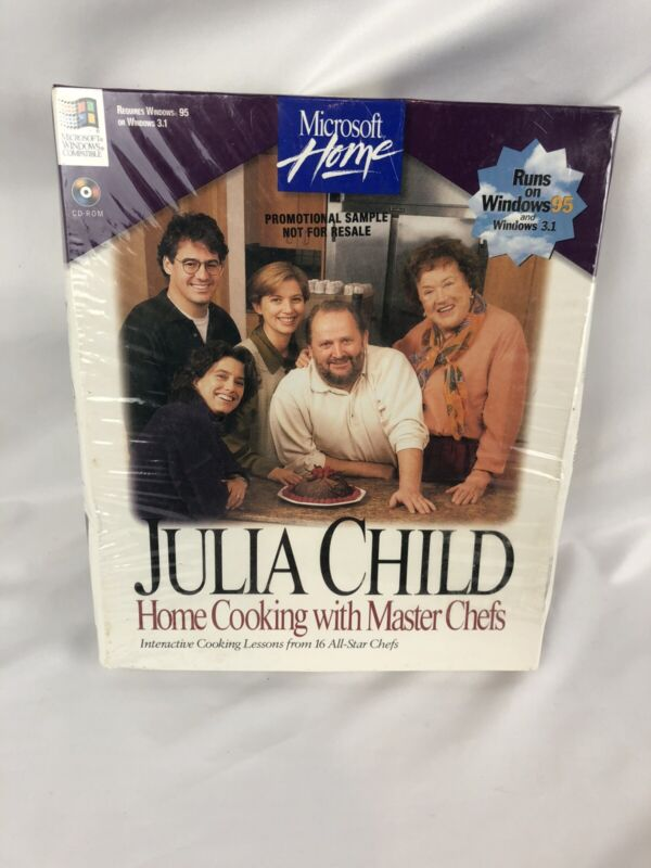 Julia Child Home Cooking With Master Chefs Microsoft Press PC Window Software 95