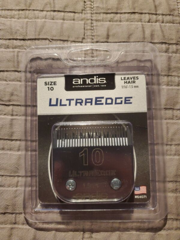 "Andis UltraEdge Size 10 1/16"" 1.5mm Dog Clipper Blade #64071 New"