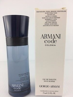 d4ae0796b8cf Armani Code COLONIA Giorgio Armani Men Cologne Spray 2.5 OZ 75 ML NEW TESTR  BOX