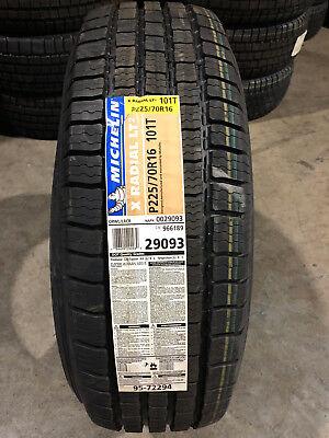 4 New 225 70 16 Michelin X Radial Lt2 Tires