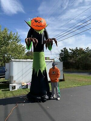 Halloween Inflatable Decorations Sale (New Gemmy 14' Pumpkin Reaper Halloween Inflatable Giant Airblown Yard Decor)