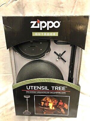 Zippo Outdoor Grill Utensil Stand Holder Tree Brand New