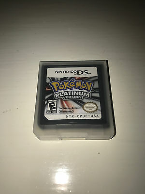 $14.99 - Pokemon Platinum Version Video Game w/ Case for Nintendo DS Lite TESTED