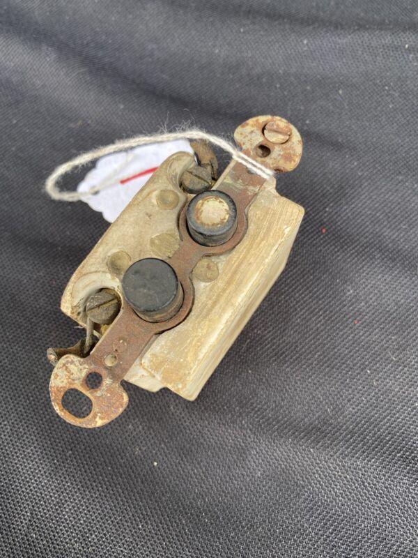 Vintage Porcelain Ceramic Push Button Light Switch Single Pole