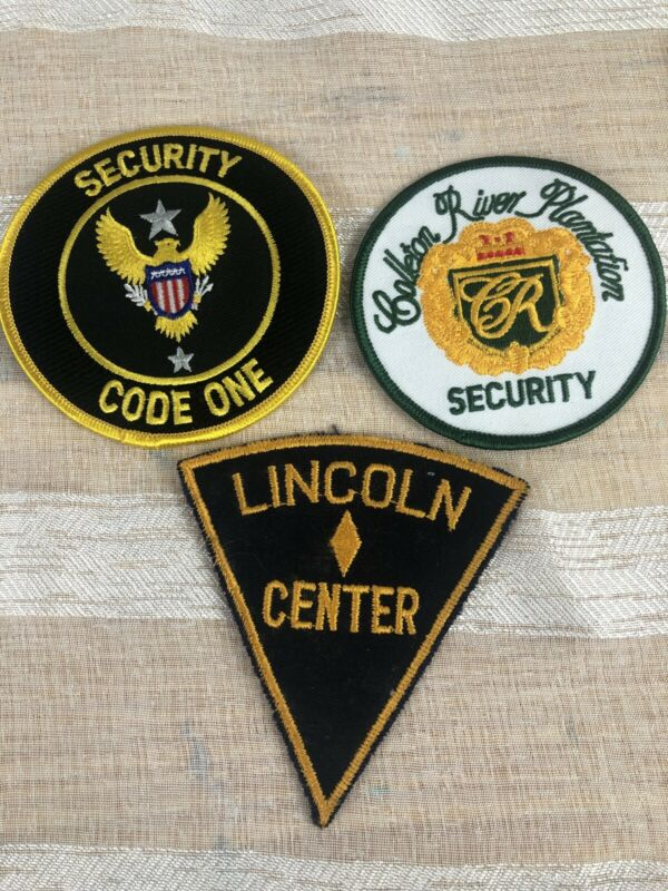 Vintage Security Patch Lot (3) Code One Lincoln Center CR Security Patches 3
