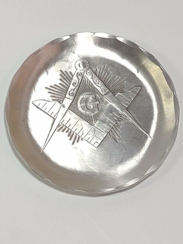 Wendell August Forge Coaster Plate Masonic Mason G Lodge #729